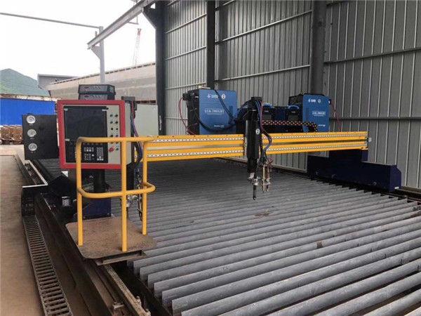 Dobro automatizado da máquina de corte do plasma do CNC que conduz trilhos do período 15m de 4m