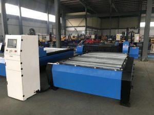 China 1325 1530 barato controlador de altura da tocha plasma huayuan metal corte de aço cnc máquina de corte plasma