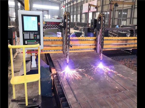 Linha de produção dobro do sistema da viga da máquina de corte H do plasma do CNC do pórtico H de Hypertherm