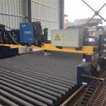Pórtico duplo de acionamento CNC máquina de corte a plasma que corta aço sólido / h feixe de linha de produção