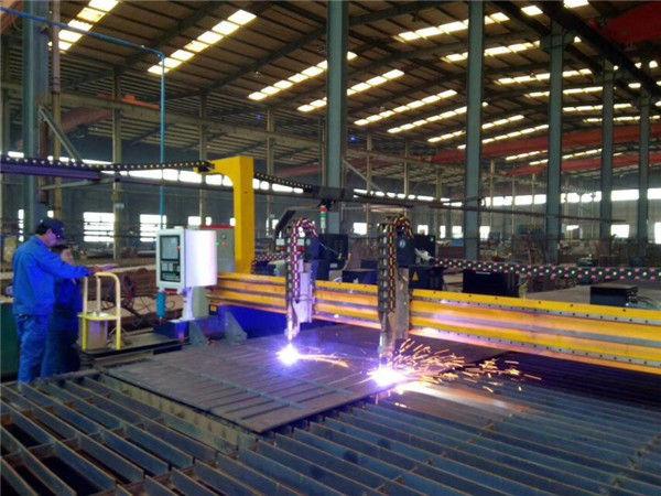 Máquina de corte por plasma CNC de pórtico e máquina de corte por chama para chapa de aço