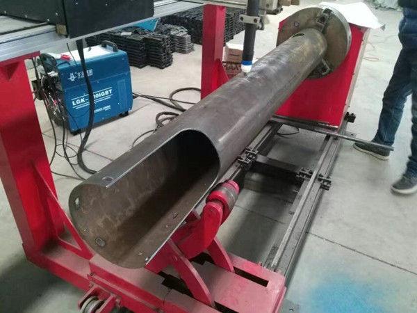 Máquina de corte de giro do plasma do CNC do baixo custo do tubo do círculo do CNC do eixo